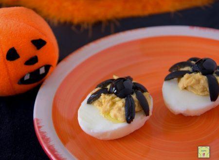 Uova ragno per Halloween