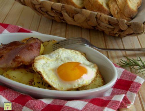 Uova speck e patate arrosto