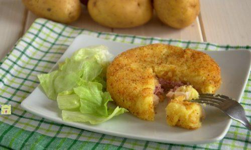 Hamburger di patate ripieni