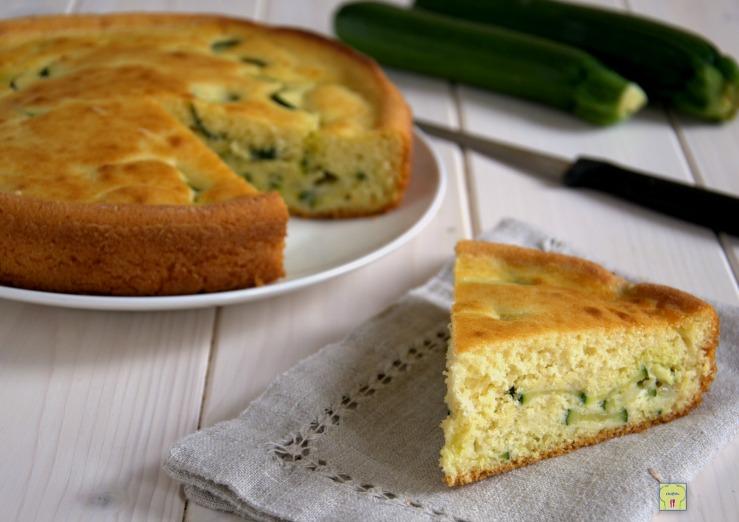 Torta zucchine e mozzarella con lievito istantaneo