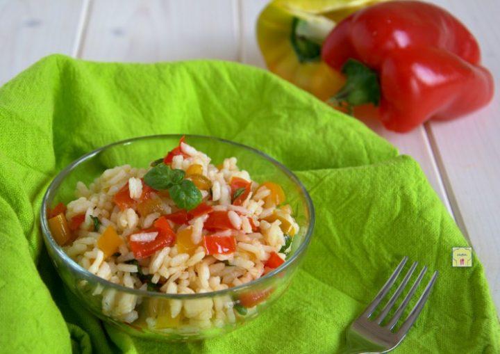insalata di riso ai peperoni