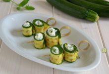 Rotolini di zucchine stracchino e menta