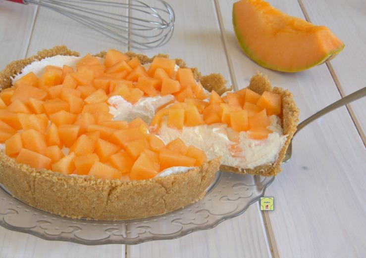 Crostata al melone senza cottura