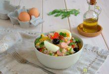 Insalata di riso wurstel e uova sode