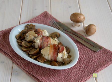 Involtini di pollo funghi e pancetta
