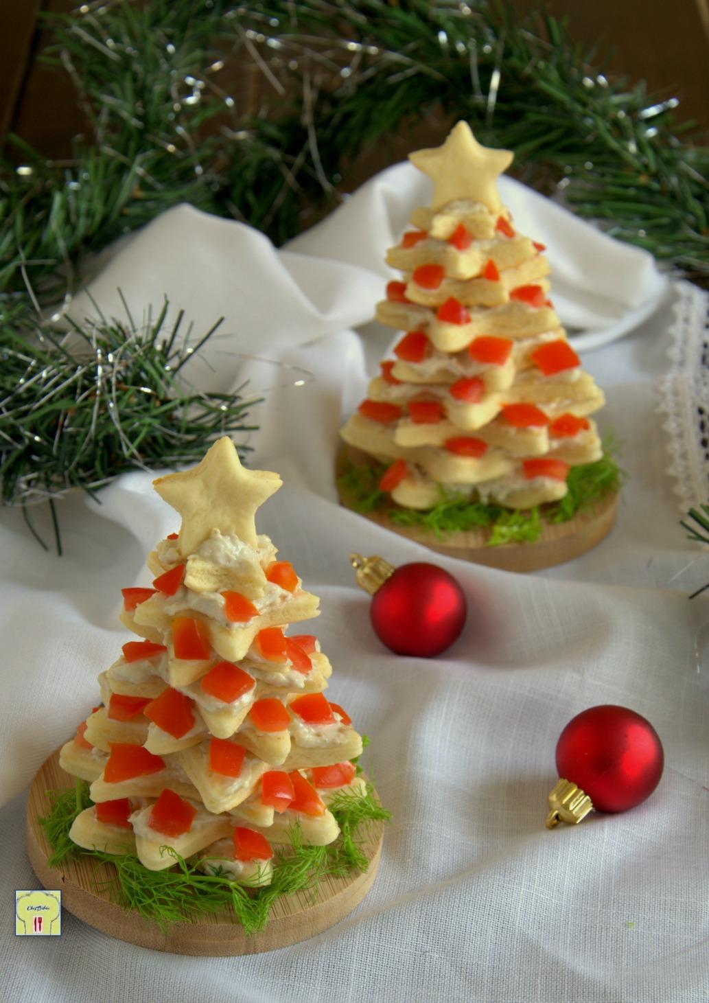 Albero Di Natale Con Biscotti.Albero Di Biscotti Salati Antipasto Per Le Feste Di Natale