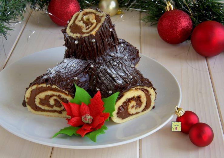 Tronchetto Di Natale Zafferano.Tronchetto Di Natale Alla Nutella