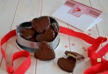 Cuori di biscotto e cioccolato