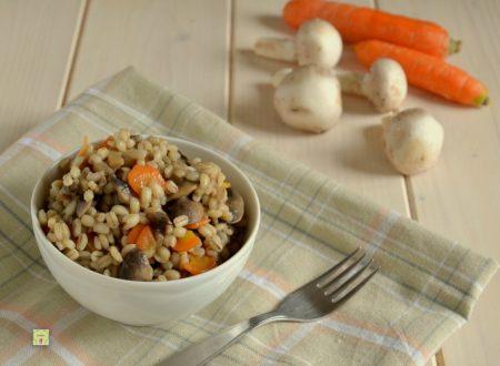 Orzotto funghi e carote