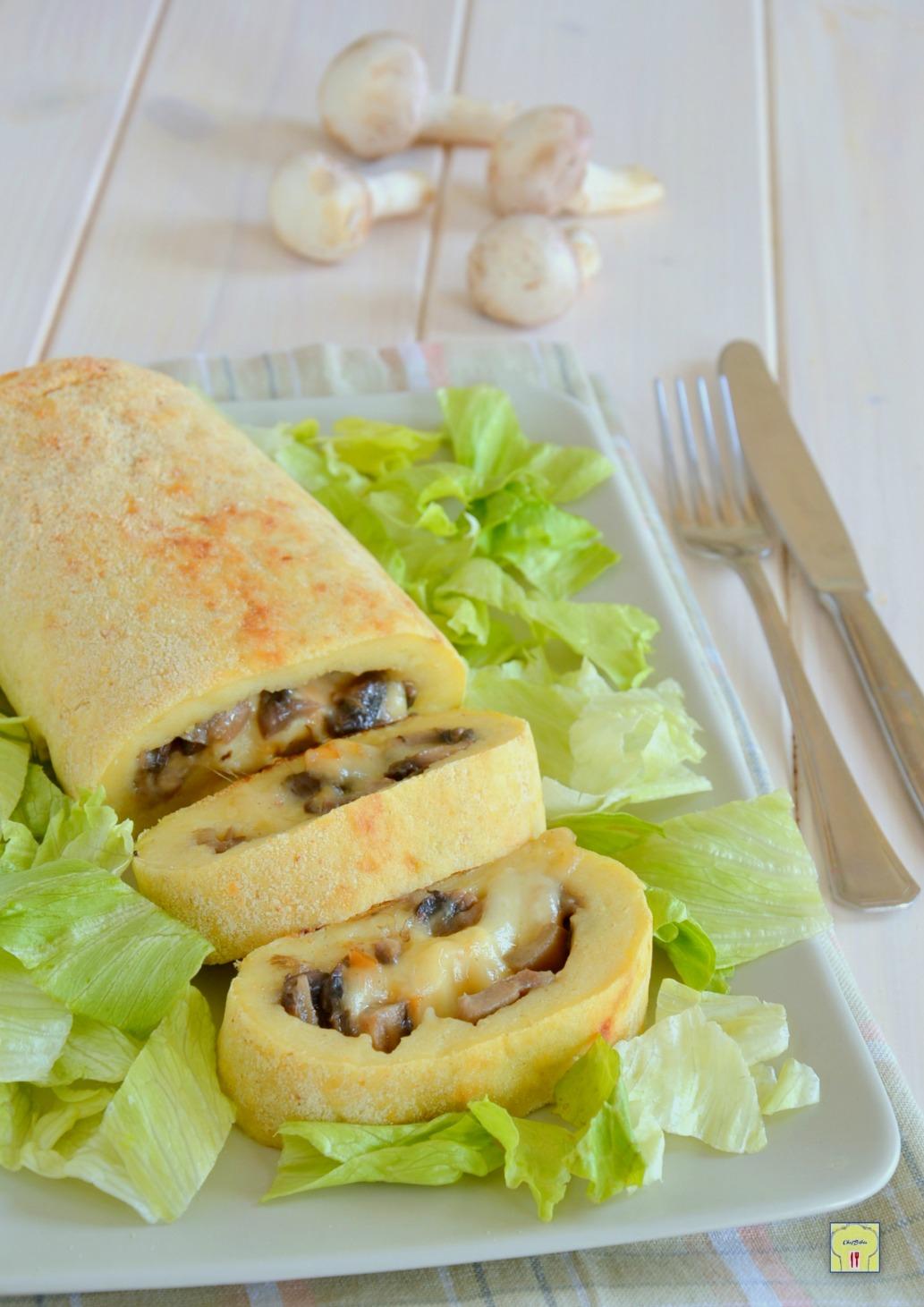 Rotolo di patate funghi e scamorza ricetta vegetariana for Raccolta patate