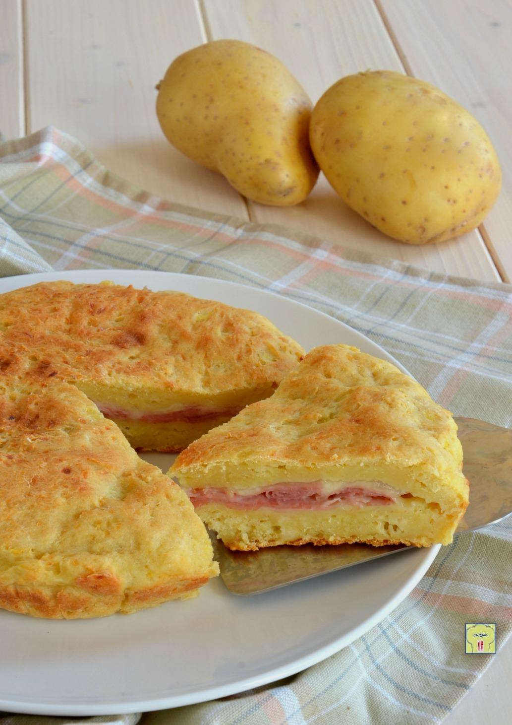torta di patate con prosciutto e formaggio gp