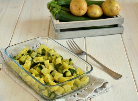 Patate e zucchine al microonde