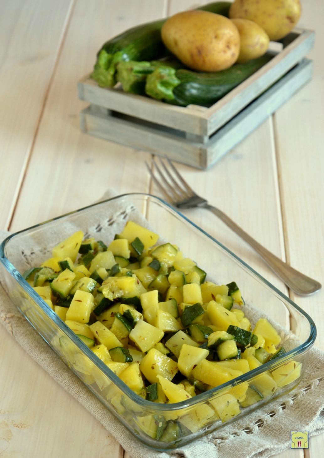 Patate e zucchine al microonde ricetta vegana facile e veloce for Microonde ricette
