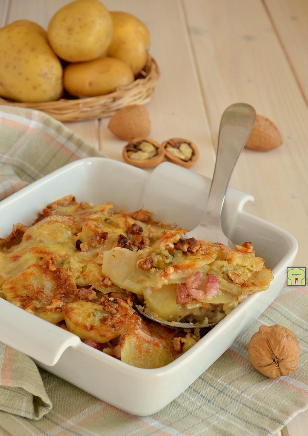 Teglia di patate gorgonzola e noci secondo piatto for Raccolta patate