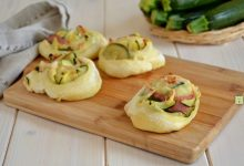 Girelle di pane zucchine e salame