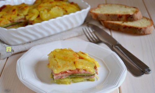 Sformato di patate zucchine e prosciutto