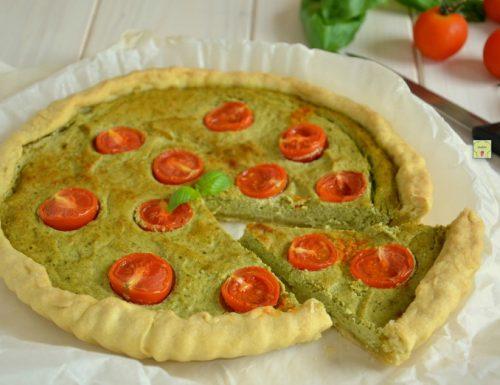 Torta ricotta pesto e pomodorini