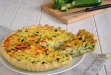 Torta salata ricotta zucchine e salmone