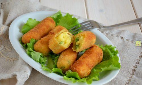 Crocchette di patate e piselli