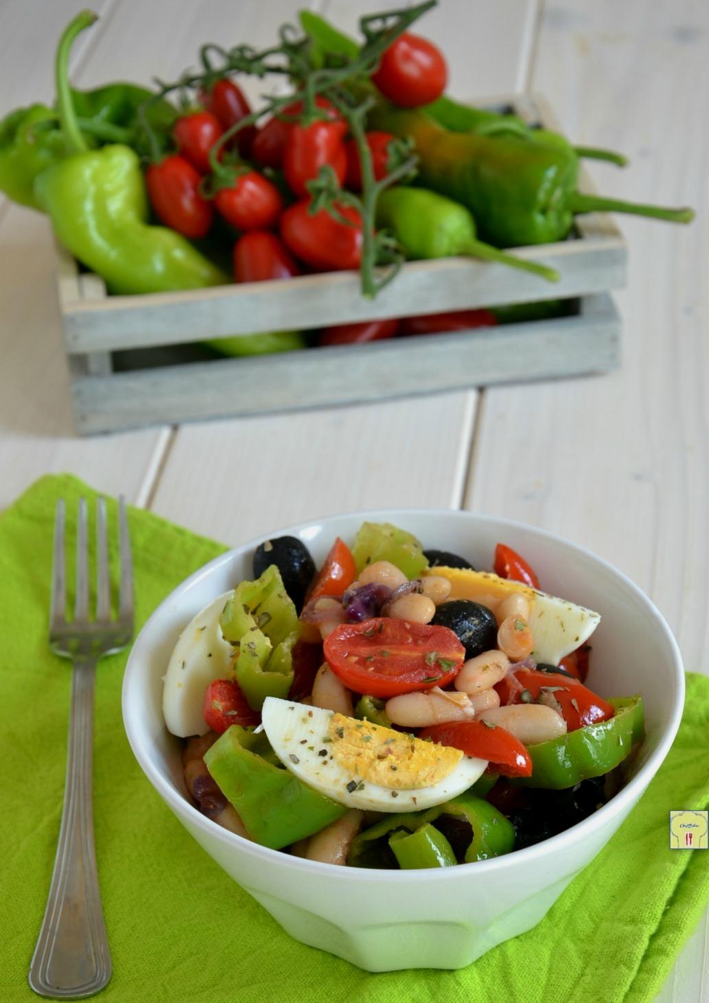 insalata di cannellini uova e peperoncini dolci gp