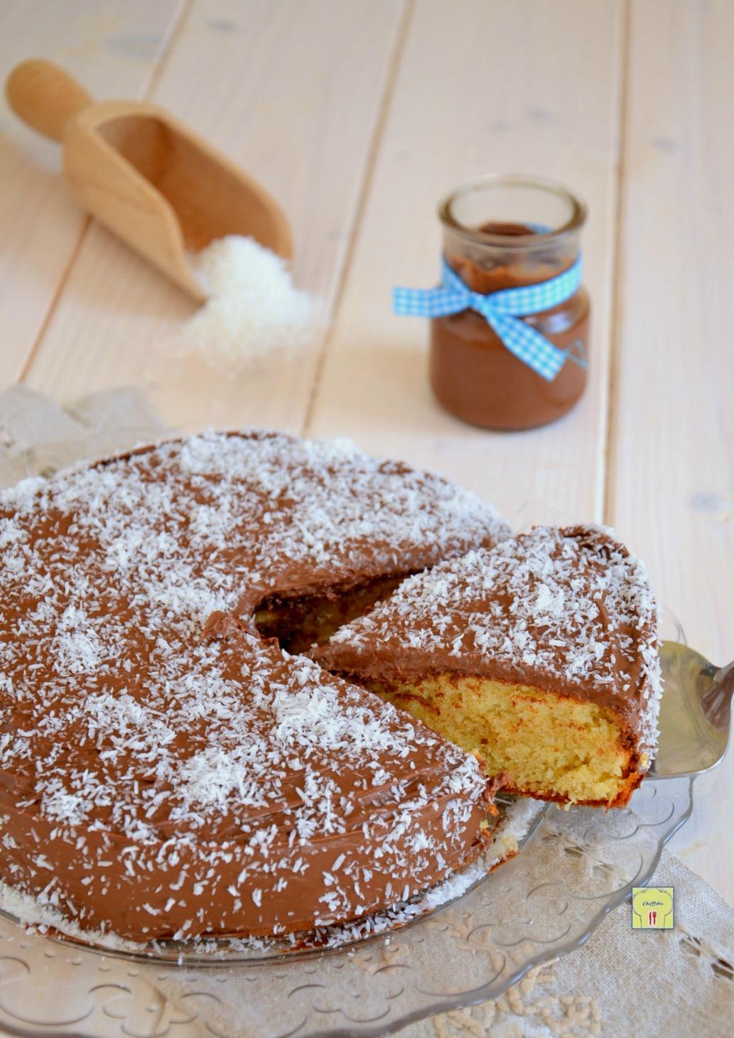torta cocco e nutella al bicchiere gp