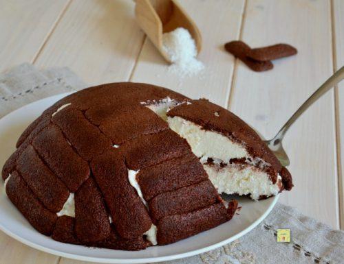 Zuccotto cioccolato e cocco