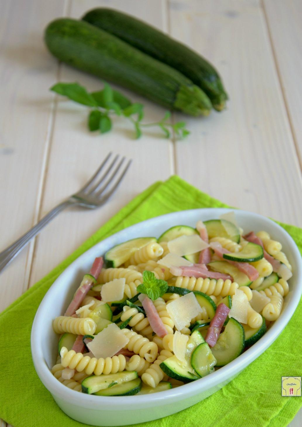 Favori Pasta fredda zucchine e speck, primo piatto estivo PZ83