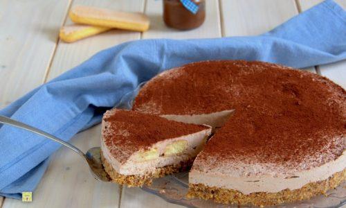 Cheesecake con savoiardi e nutella