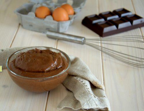 Crema chiboust al cioccolato