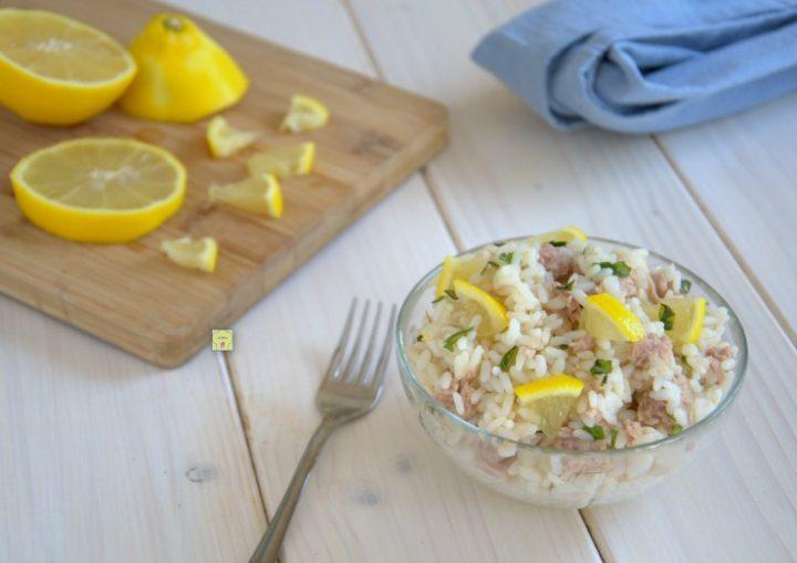 riso freddo tonno e limone