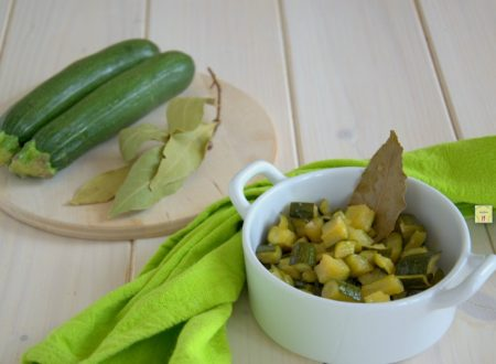 Zucchine aromatiche in agrodolce