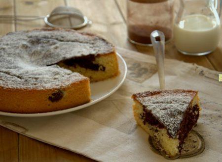 Torta bicolore cioccolato e panna
