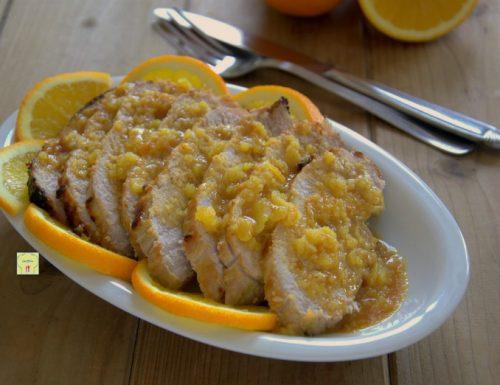 Arrosto di maiale all arancia