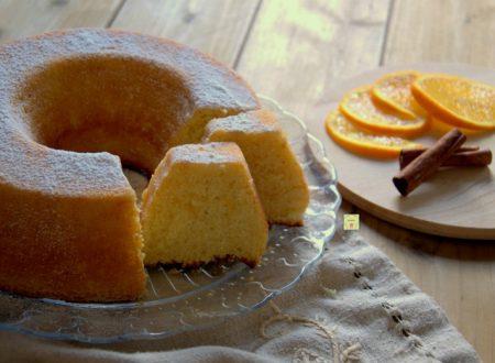 Ciambella soffice arancia e cannella