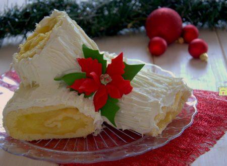 Tronchetto di Natale arancia e cioccolato bianco