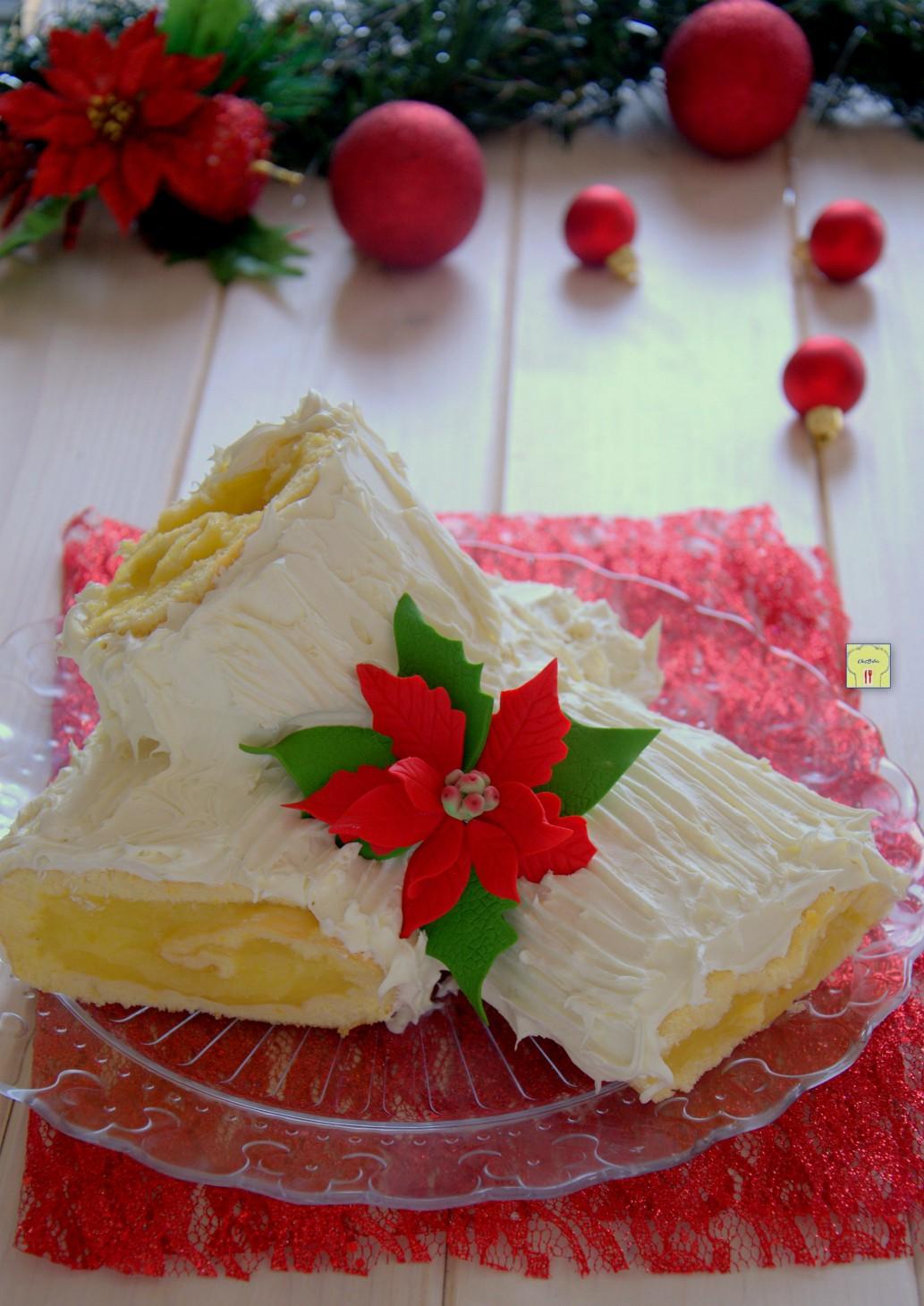 Come Decorare Un Tronchetto Di Natale.Tronchetto Di Natale Arancia E Cioccolato Bianco