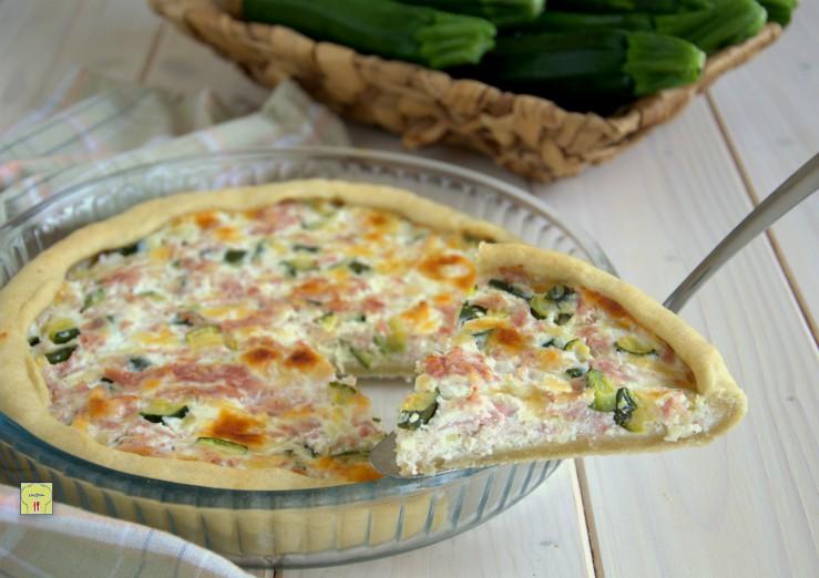 Torta salata con zucchine e formaggio senza uova | La ...