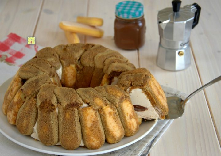 ciambella caffè e nutella senza cottura