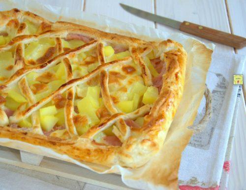 Crostata di sfoglia prosciutto e patate