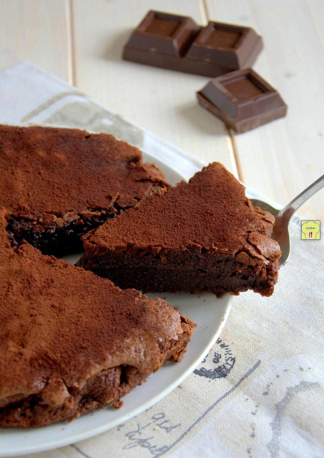 torta fondente al cioccolato senza farina gp