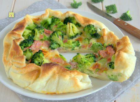 Sfogliata broccoli prosciutto e formaggio
