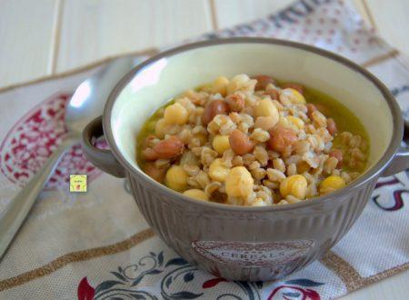 Zuppa di farro e legumi