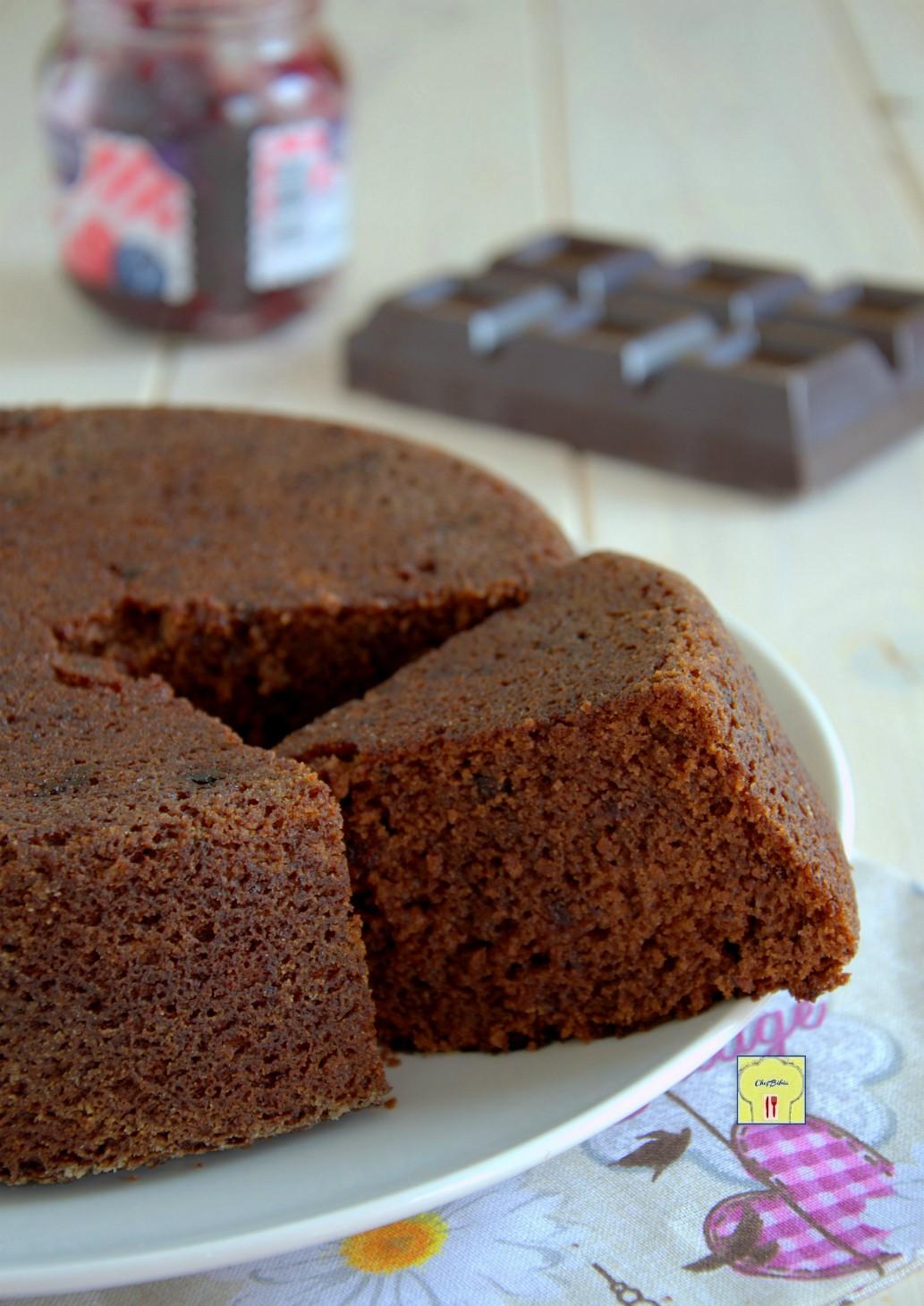 torta morbida al cioccolato e marmellata gp