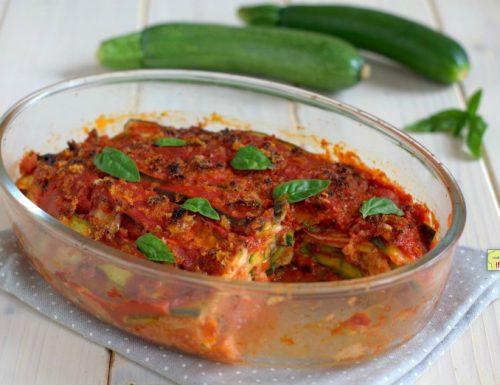 Parmigiana veloce di zucchine