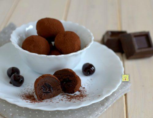 Tartufi cioccolato e amarene
