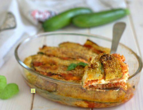 Zucchine gratinate ricotta e pomodoro