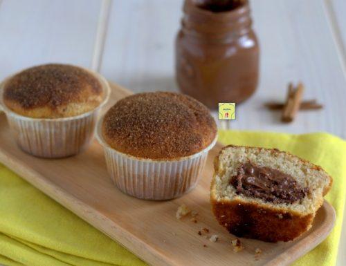 Muffin alla cannella e nutella