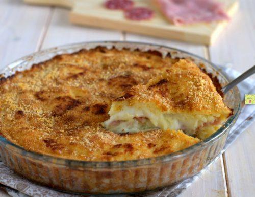 Torta di patate prosciutto e salame