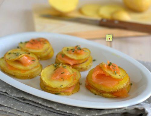 Millefoglie di patate e salmone