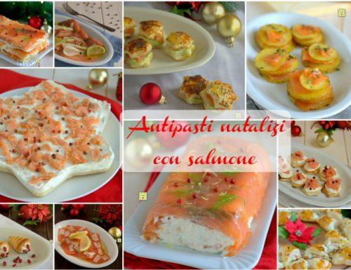 Antipasti natalizi con salmone